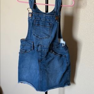 Toddler girls overall skirt